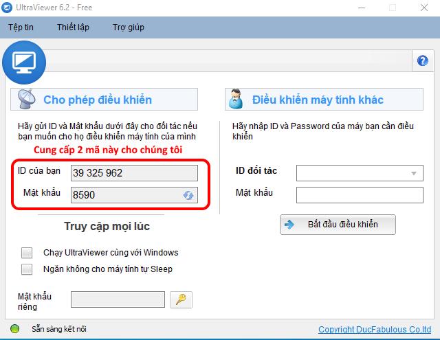 Dịch vụ cài đặt online