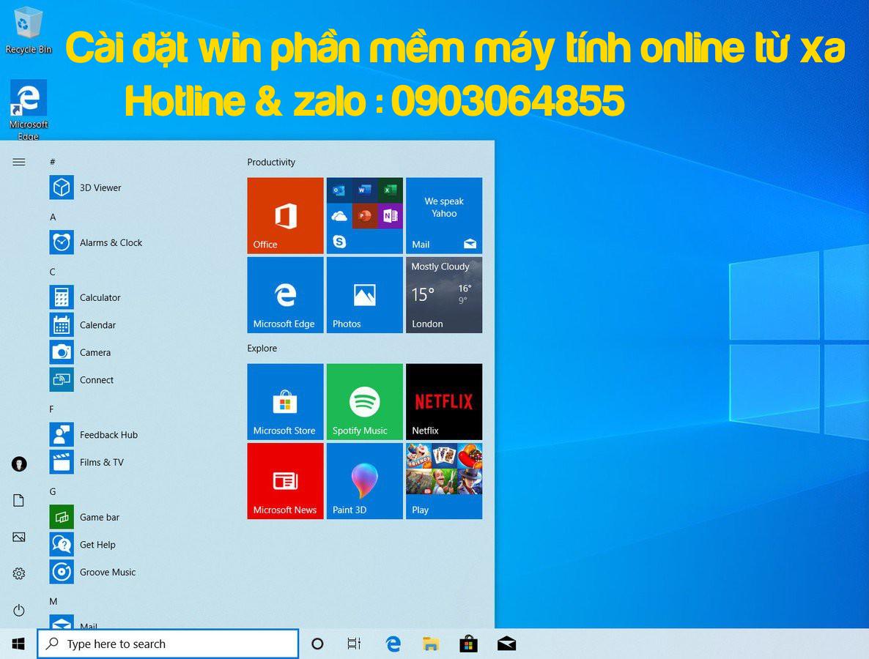 Dịch vụ sửa cài đặt Win phần mềm máy tính online qua mạng