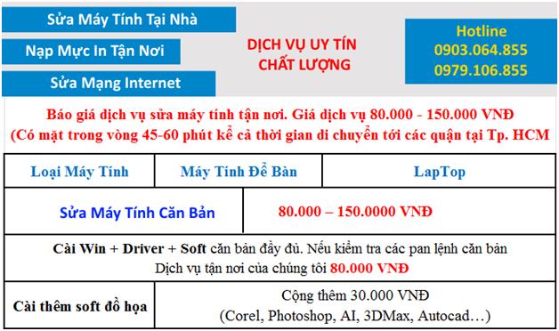 Sửa máy tính tận nơi quận Tân Bình - Giá RẺ - NHANH - UY TÍN NHẤT
