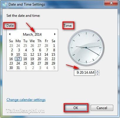 cách sửa lỗi ngày giờ trên máy tính
