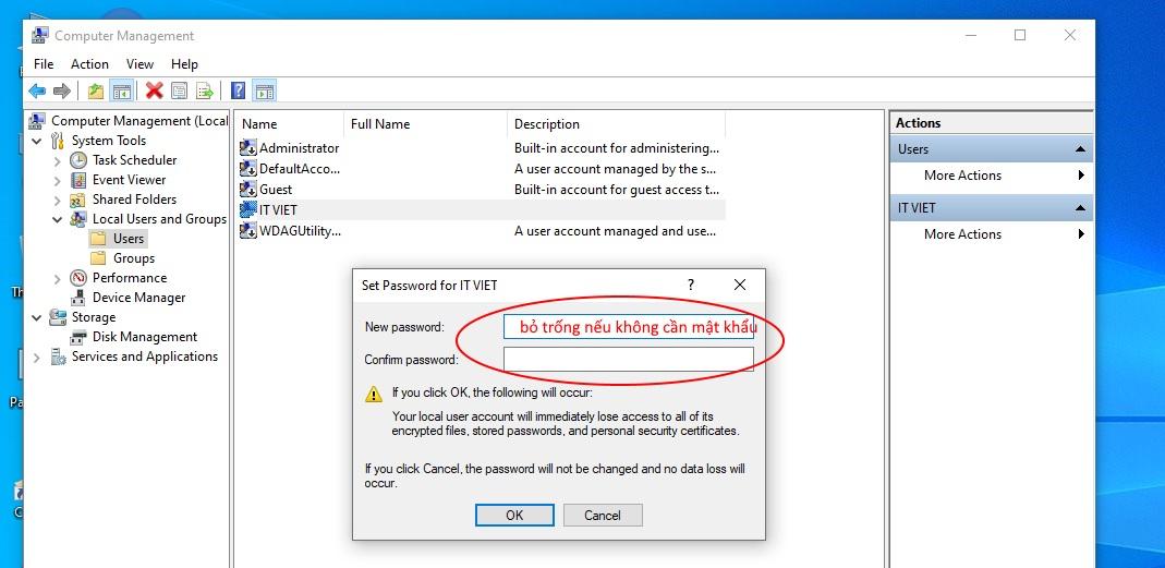 Cách xóa mật khẩu win 10 nhanh nhất 5 giây