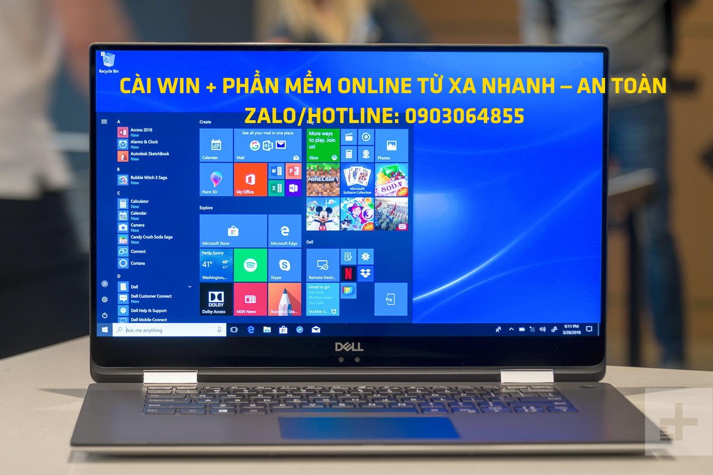 Sửa cài đặt Win phần mềm máy tính online Cẩm Phả