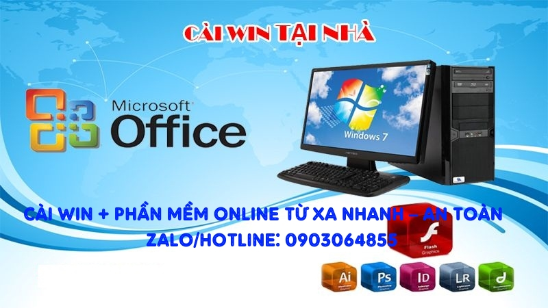 Sửa cài đặt Win phần mềm máy tính online Nha Trang