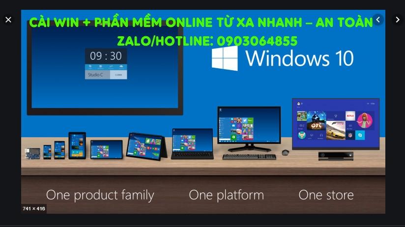 Sửa cài đặt Win phần mềm máy tính online Phan Thiết