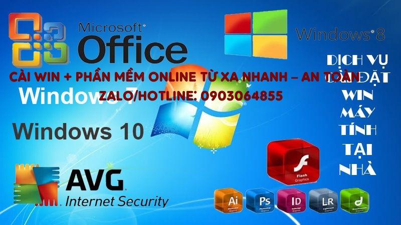 Sửa cài đặt Win phần mềm máy tính online Thái Nguyên