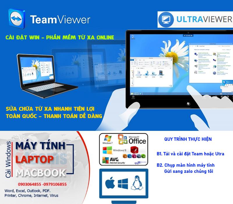Dịch vụ sửa cài đặt phần mềm và Win online qua mạng Hà Nội